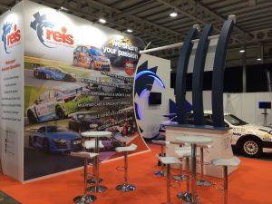 Custom built exhibition stand at Race Retro 2018 NAEC Stoneleigh - Warwickshire, UK