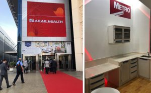 Stand design and build for Arab Health at DWTC