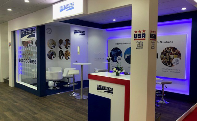 Stand design and build for USA Pavilion at DWTC Dubai for Interra
