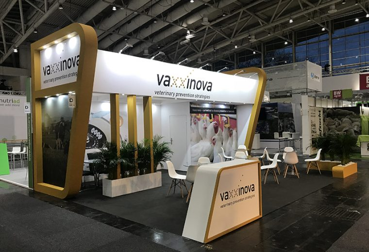 Stand design and build in Hannover for Vaxxinova