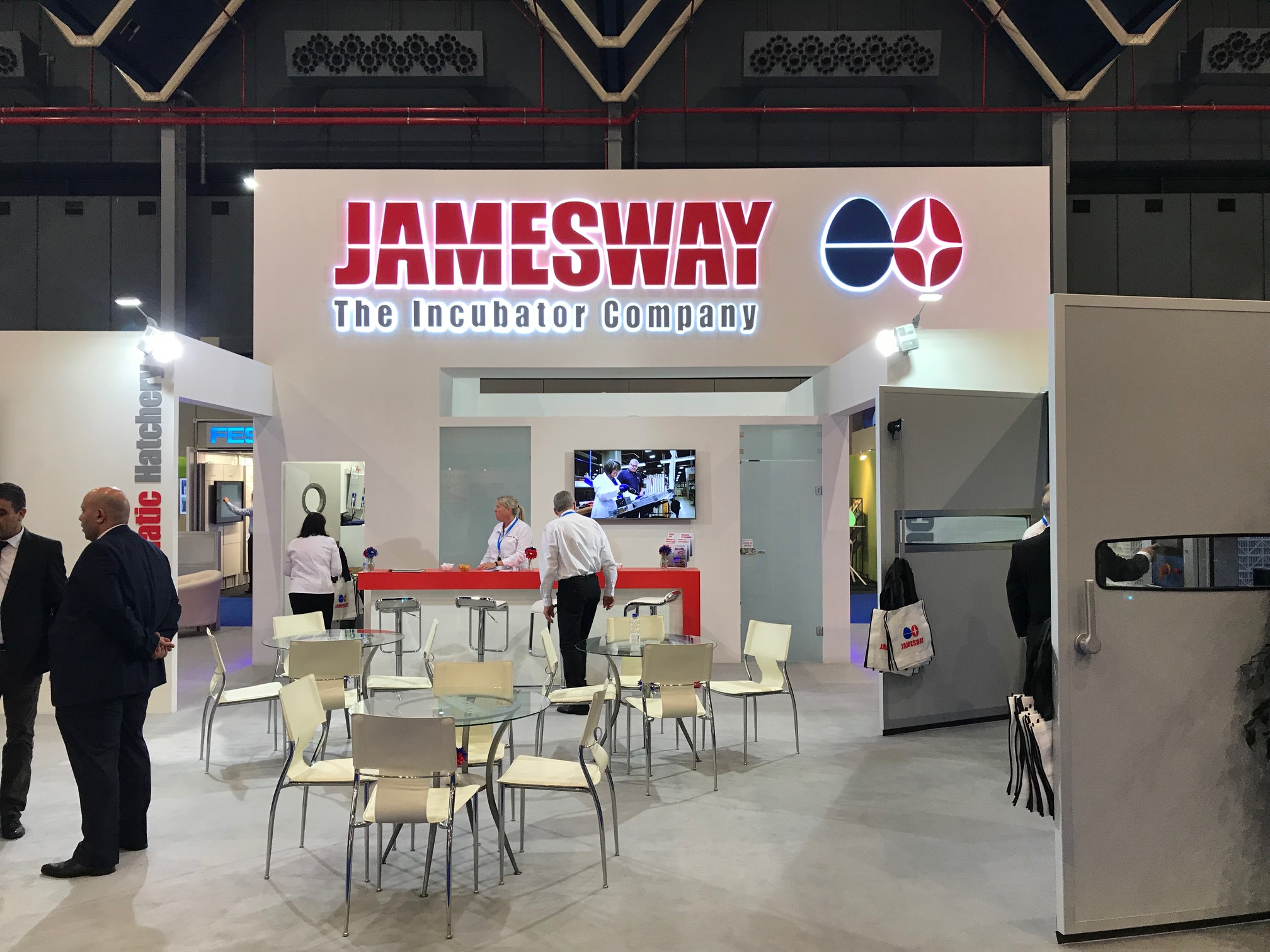 Exhibition stand design and build for Jamesway at VIV Europe 2018 Jaarbeurs Utrect