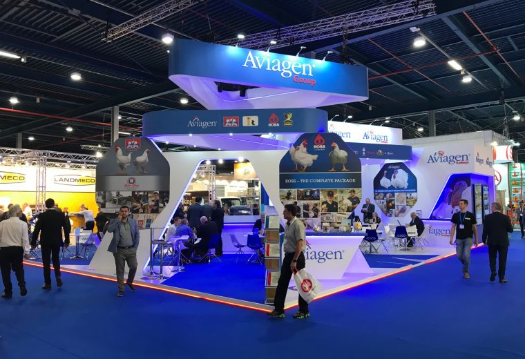 Exhibition stand design and build for Aviagen at VIV Europe 2018 Jaarbeurs Utrect