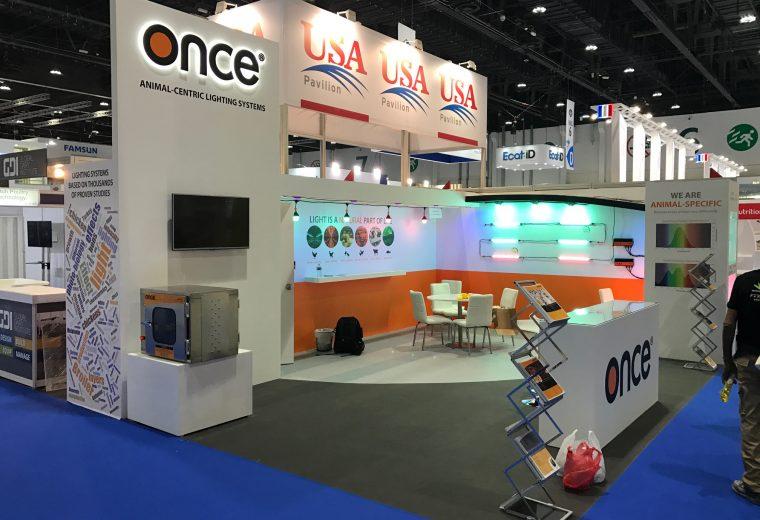 Custom built stand at the VIV MEA 2018 Exhibition ADNEC Abu Dhabi UAE