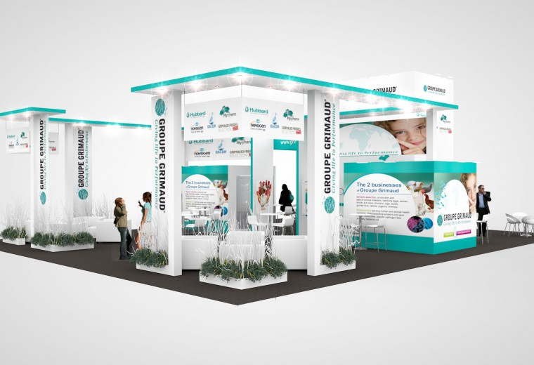 Design for exhibition stand tender at Groupe Grimaud's European Exhibition Programme