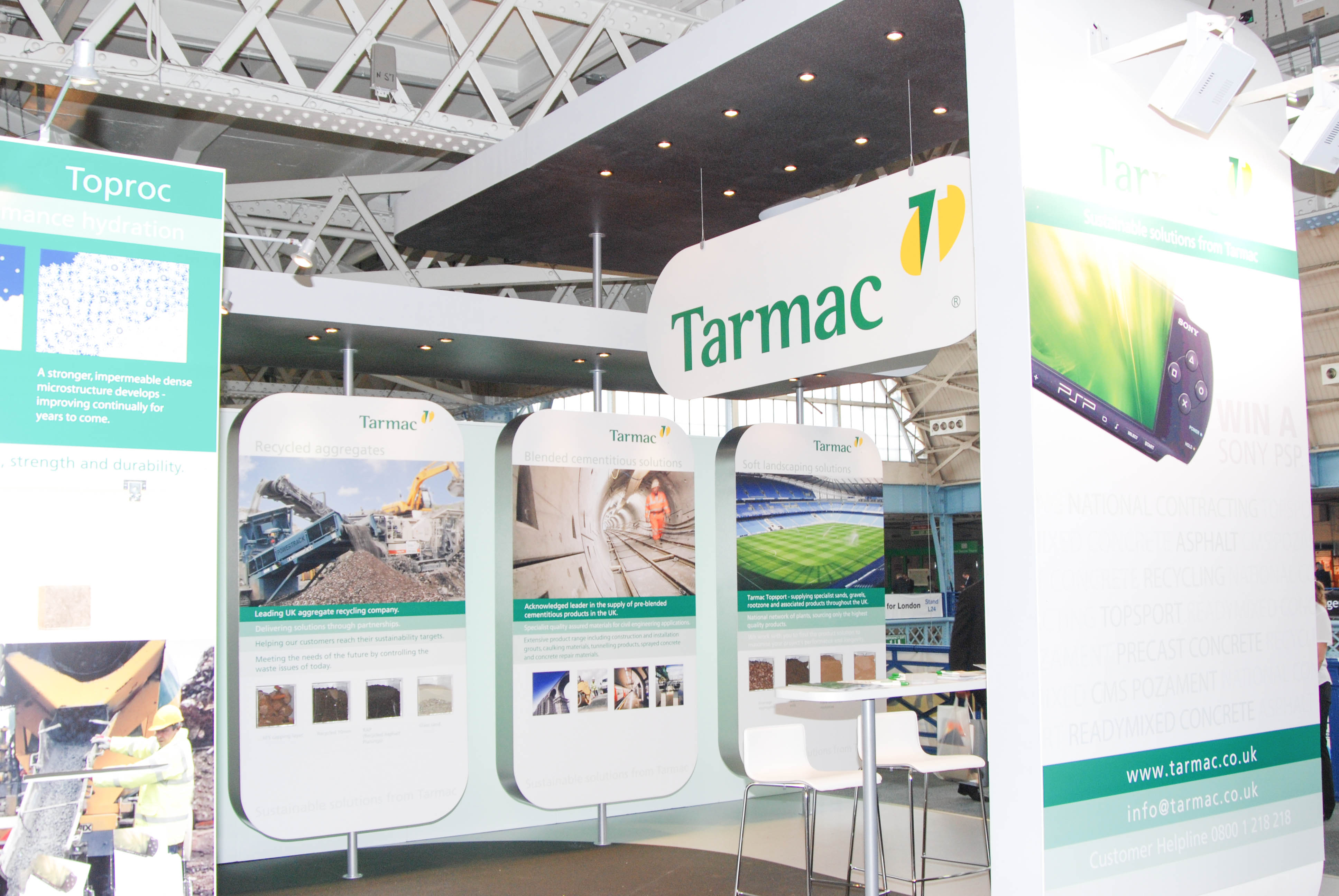"""""""Tarmac exhibition stand at Civils trade show"""""""