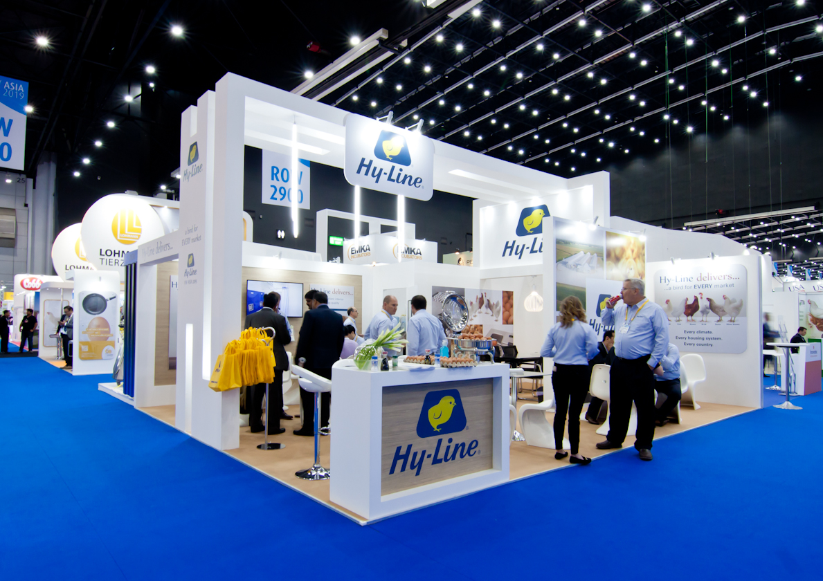 Thailand stand design and build for VIV Asia Hy-Line