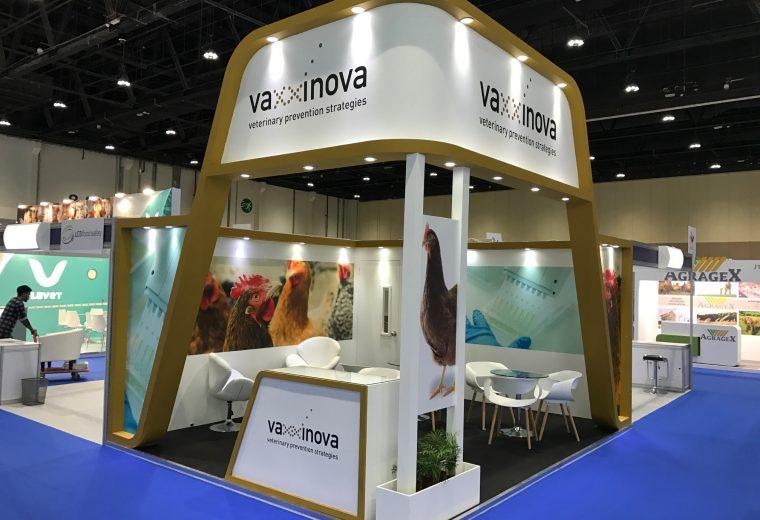 Trade show booth design and build for Vaxxinova and VIV MEA 2018 ADNEC Abu Dhabi UAE