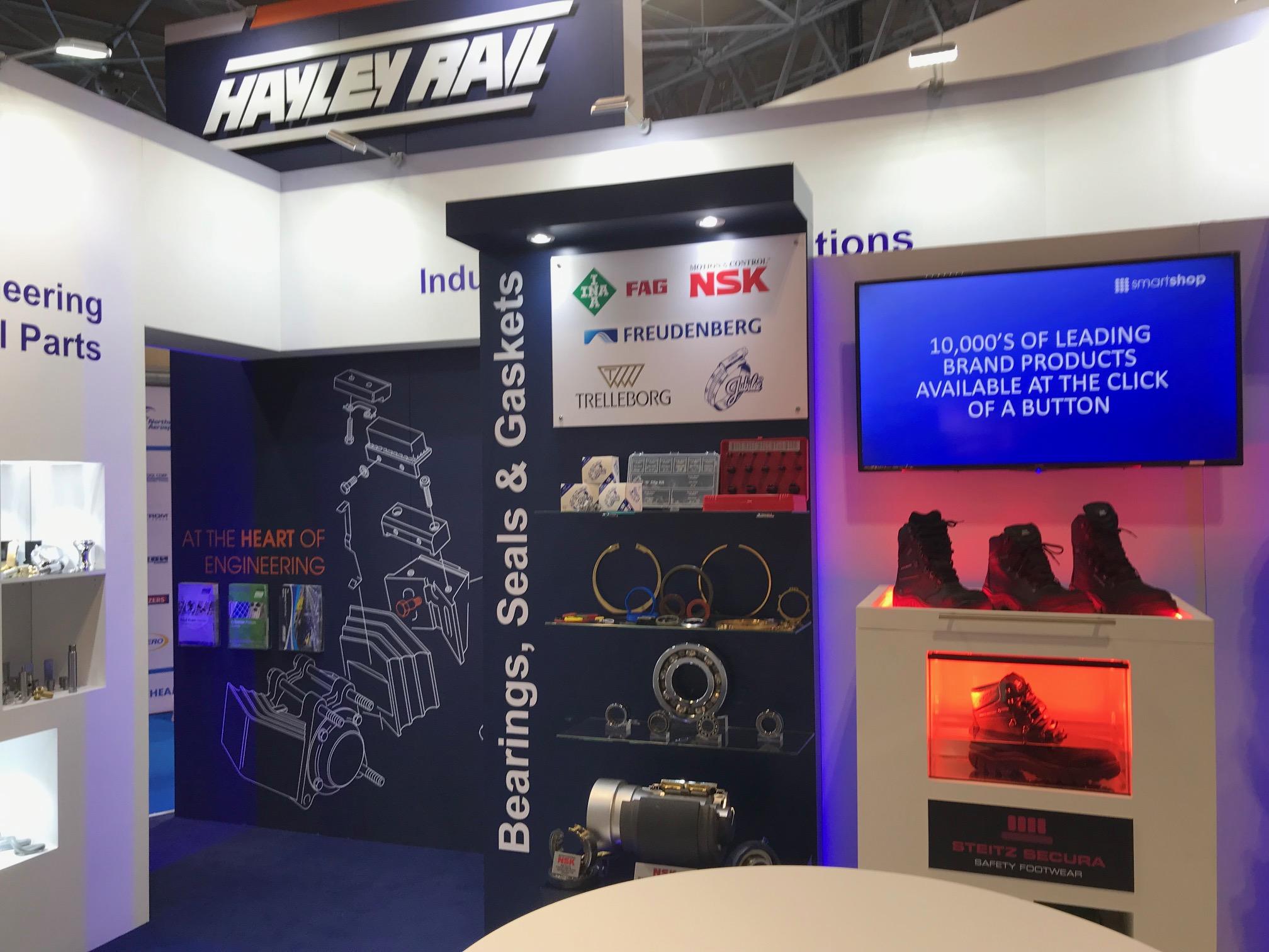 Trade show booth design at Birmingham for Railtex UK