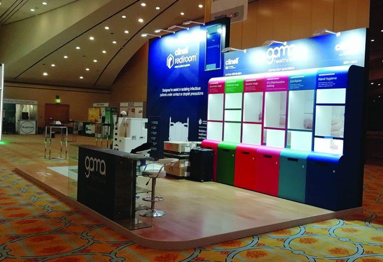Trade show booth design in Riyadh at IPC KSA Saudi Arabia