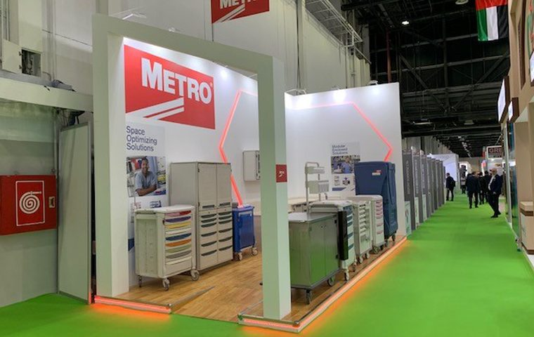 Trade show booth design at DICEC UAE for Arab Health