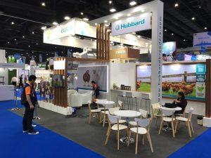 Trade show booth design for Hubbard at VIV Asia in Bangkok