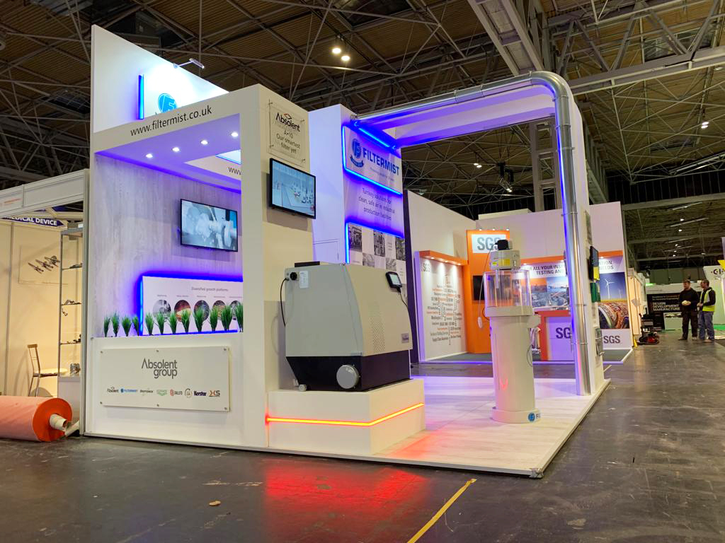 Trade show booth design at NEC for Advanced Engineering UK