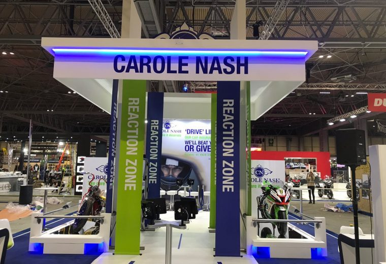 Bespoke exhibition stand at Motorcycle Live 2018 NEC Birmingham UK
