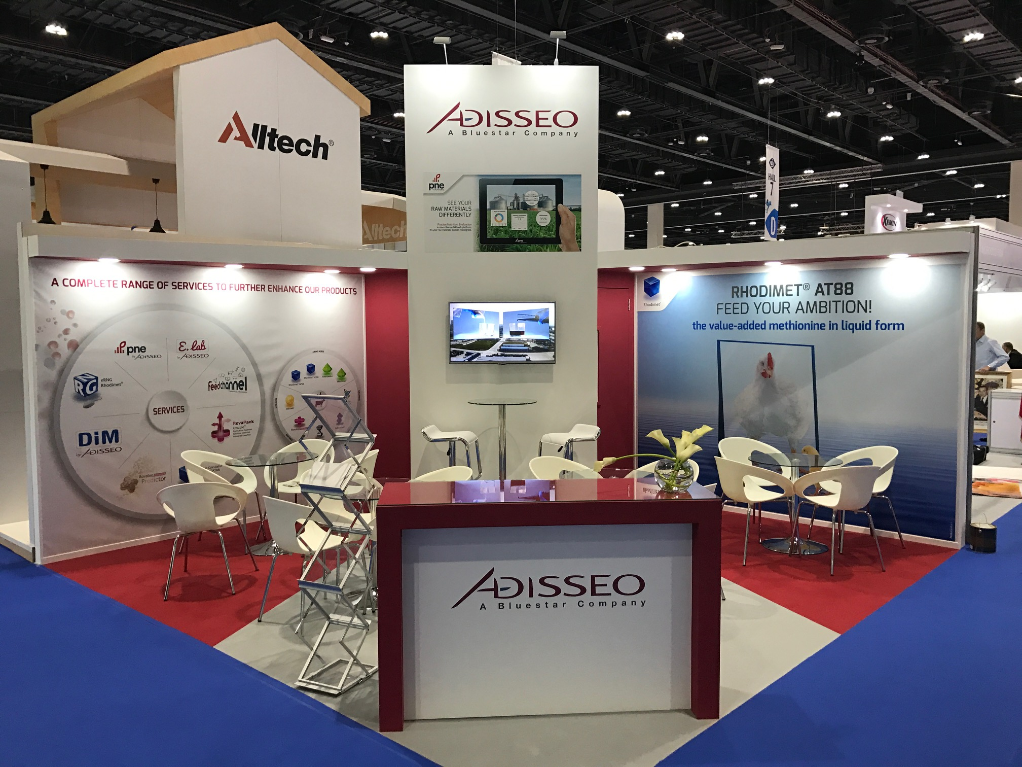Bespoke stand design and build for Adisseo at VIV MEA 2018 ADNEC Abu Dhabi UAE
