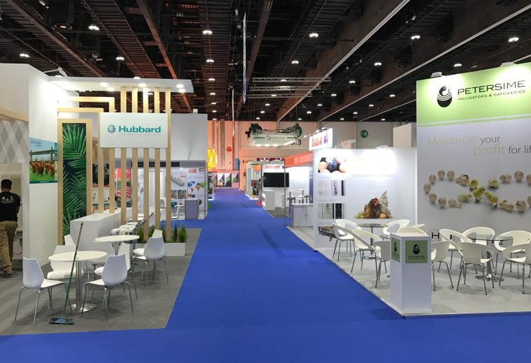 Exhibition stand design and build at VIV MEA 2018 ADNEC Abu Dhabi UAE