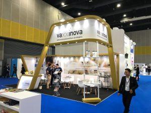 Vaxxinova Custom built stand at VIV Asia in Bangkok Thailand