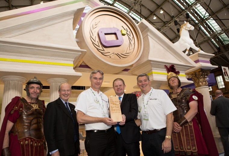 Custom built exhibition stand awarded the best large stand at the BIBA Conference and Exhibition
