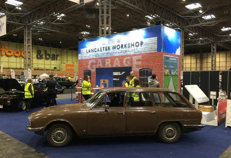 Exhibition stand design and build at the Classic Car & Restoration Show 2018 - NEC, Birmingham UK