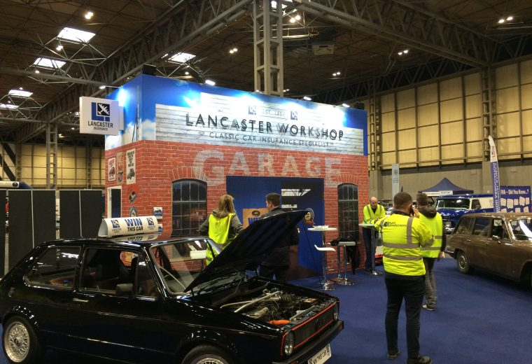 Custom built exhibition stand NEC Birmingham Classic Car & Restoration Show