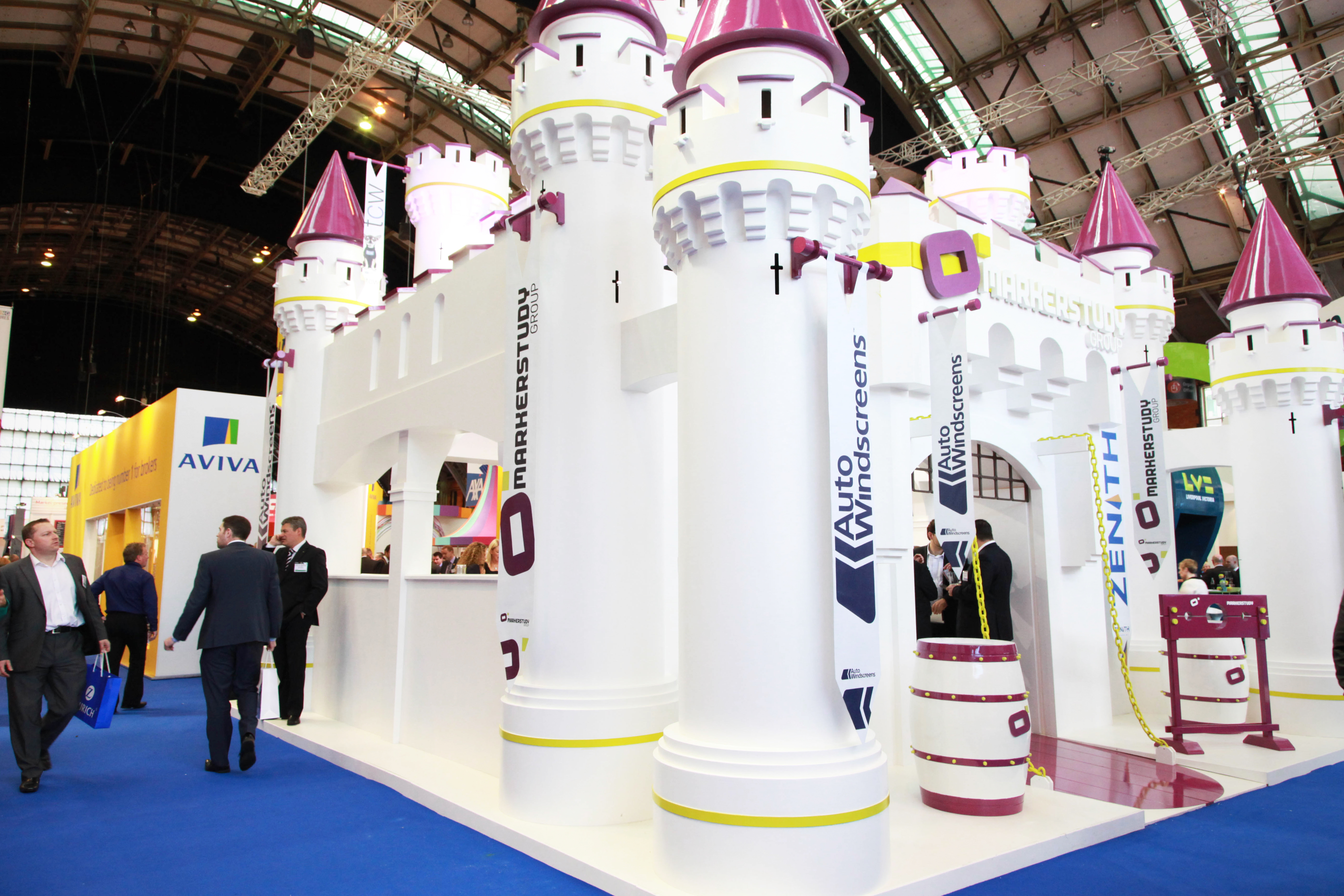 Custom built exhibition stand at the BIBA Conference and Exhibition