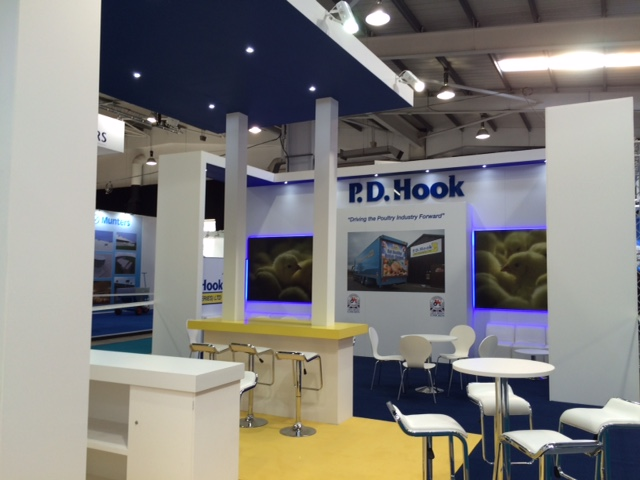 PD Hook's custom built exhibition stand at the Pig and Poultry Tradeshow NAEC Stoneleigh
