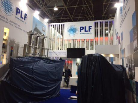 Trade show stand design and build for PLF International Ltd