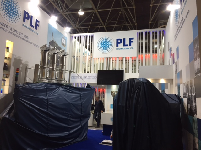 Trade show stand design and build for PLF International Ltd