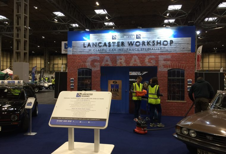 Bespoke tradeshow stand at the Classic Car & Restoration Show - NEC Birmingham, UK